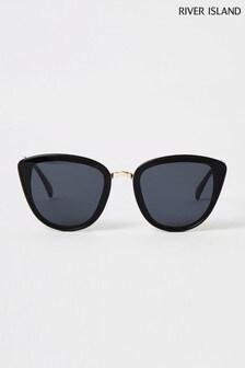 River Island Black Teresa Lattice Arm Catey Sunglasses