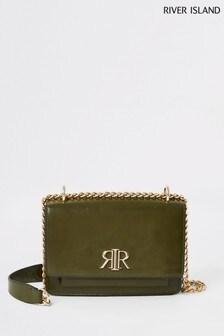 River Island Khaki Pocket Front Underarm Bag