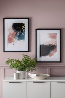 Set of 2 Abstract Framed Art