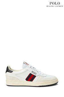 Polo Ralph Lauren White Classic Polo Court Trainers