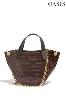 Oasis Brown Tabby Saddle Bag