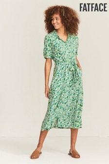 FatFace Green Riley Garden Floral Dress