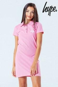 Hype. Kids Pink Polo Shirt Dress