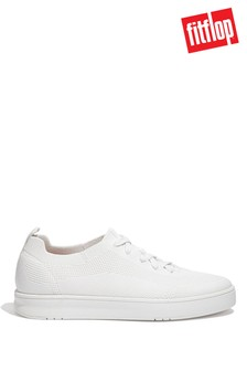 FitFlop Men's White Rally Multi Knit Sneakers
