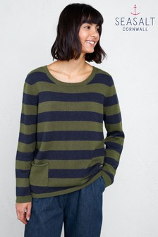 Seasalt Petite Multi Stripe Facing West Jumper