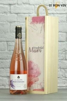 Wonderful Mum Rose D'Anjou Wood Box Gift By Le Bon Vin