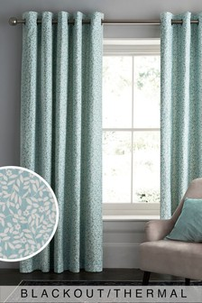 Ditsy Print Blackout/Thermal Eyelet Curtains