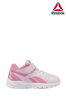 Reebok Run Pink/White Rush Runner Infant Velcro Trainers