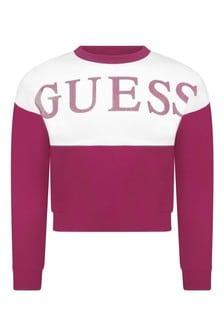Girls Pink Logo Sweater