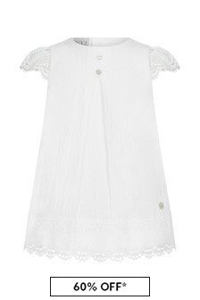 Paz Rodriguez Baby Girls White Cotton Dress