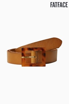 FatFace Brown Square Tortoiseshell Buckle Belt