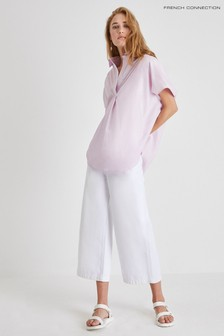 French Connection White Indi Whisper Ruth Culottes