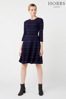 Hobbs Blue Katie Knitted Dress