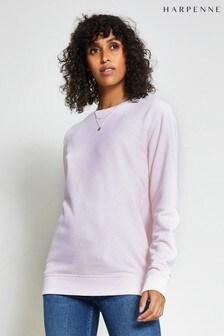 Harpenne Pink Metallic Angel Wings Print Sweatshirt