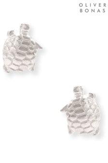 Oliver Bonas Sterling Silver Tiny Turtle Stud Earrings