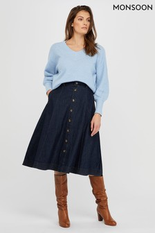 Monsoon Thea Denim Skirt