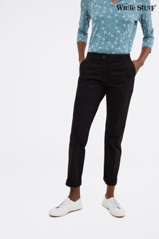 White Stuff Black Sussex Cotton Trousers