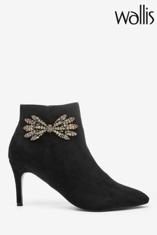 Wallis Black Abling Bow Point Boots