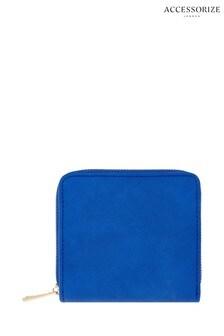 Accessorize Blue Sarah Zip Around Wallet