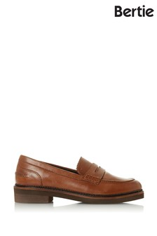 Bertie Genny Tan Leather Penny Loafers
