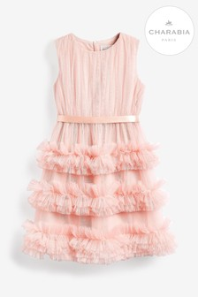 Charabia Pink Ruffle Dress