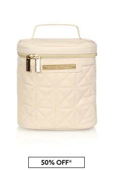 Beige Bottle Cooler Bag