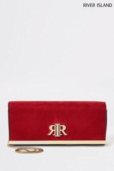 River Island Red Baguette Clutch Bag