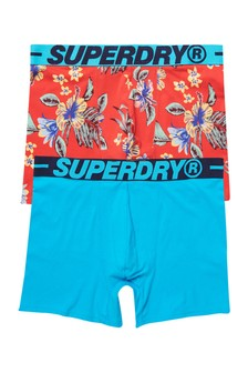 Superdry Organic Cotton Classic Boxers Two Pack