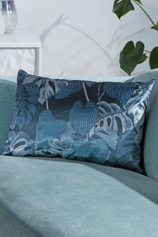 Velvet Tropical Palm Cushion
