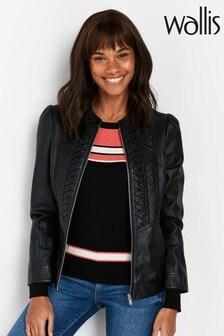 Wallis Tall Black Faux Leather Jacket