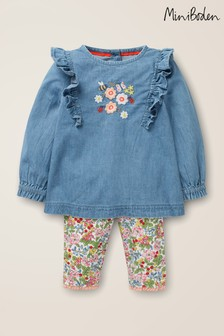 Boden Blue Woven Top Play Set