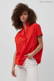 French Connection Red Cele Sleeveless Rhodes Shirt