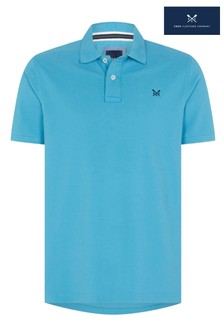 Crew Clothing Blue Classic Pique Polo