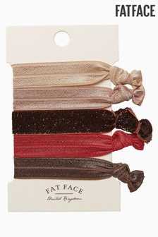 Fatface Pink 5 Pack Hair Ties