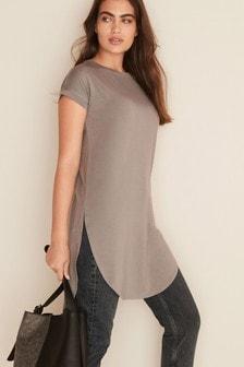 Short Sleeve Longline Tunic