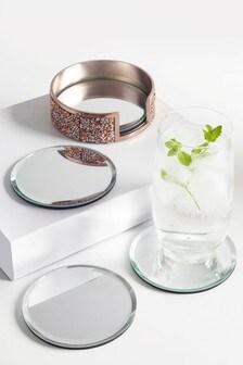 Set of 4 Harper Gem Coasters In Holder