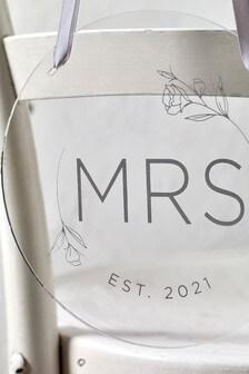 Acrylic Mrs Chair Sign