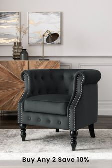 Hector Accent Chair With Black Legs