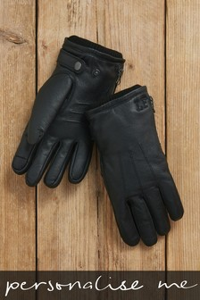 Personalised Leather Gloves