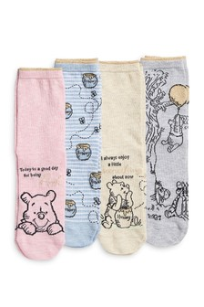 Disney™ Winnie The Pooh Ankle Socks Four Pack