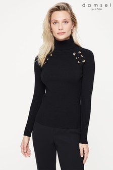 Damsel In A Dress Black Angelo Eyeley Knit Jumper