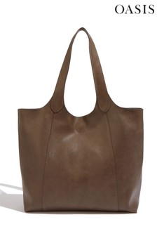 Oasis Brown Scoop Shopper Bag
