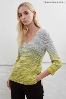 French Connection Grey Space Rib Knits Jumper