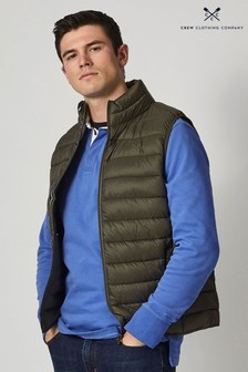 Crew Clothing Company Green Lightweight Gilet
