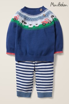 Boden Blue Farmyard Knitted Play Set