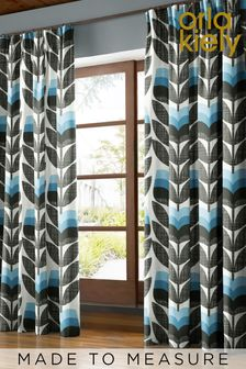 Rose Bud Powder Blue Made To Measure Curtains by Orla Kiely