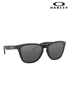 Oakley® Black Round Sunglasses