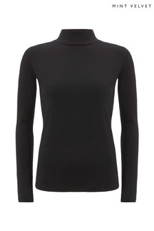 Mint Velvet Black Polo Neck