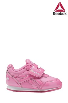 Reebok Pink Print Jogger Infant Velcro Trainers