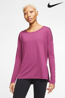 Nike Long Sleeve Yoga Training T-Shirt